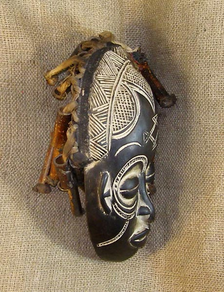 African Rasta Mask and African Sculptures