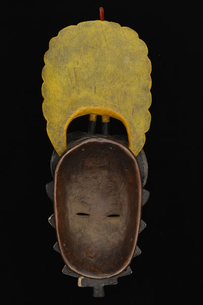 African Sawa Mask 4, Back