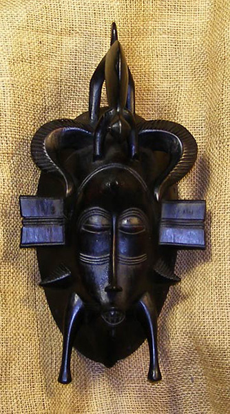 Africian Mask from the Senufo Tribe of Ivory Coast, Mali, and Burkina Faso