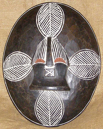 African Songye Shield and African Sculptures