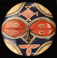 African Teke Mask 32: Click for more views of this African Mask