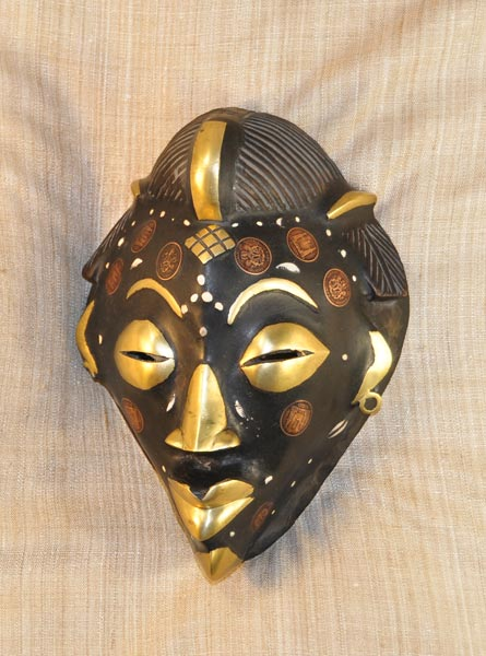 African Tikar Mask and African Sculptures