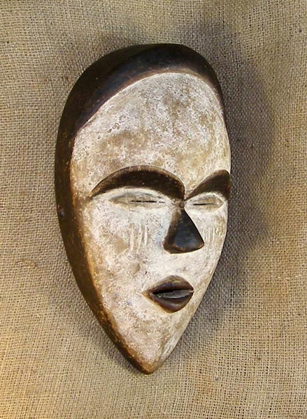 African Vuvi Mask and African Sculptures