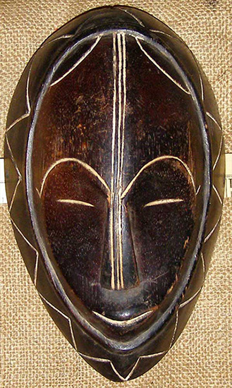 African Mask from the Vuvi Tribe of Gabon