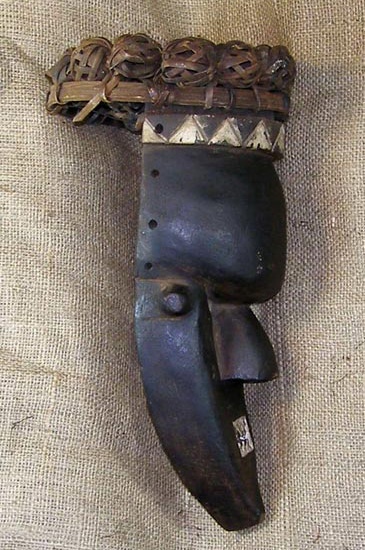 Africian Mask from the Yaka Tribe of Congo