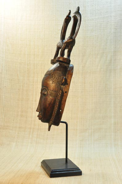 African Yaure Mask and African Sculptures