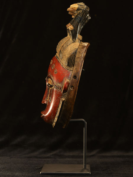 African Yaure Mask With Stand 39, Left