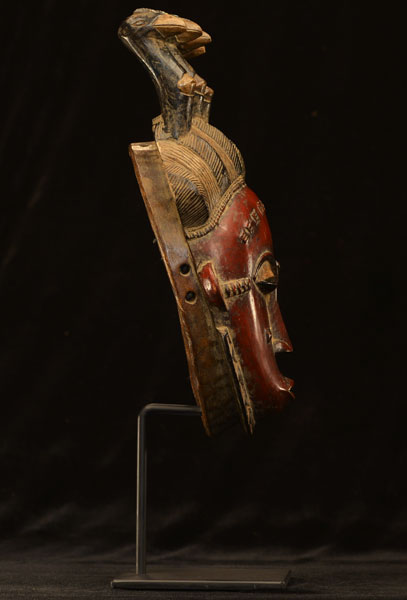African Yaure Mask With Stand 39, Right