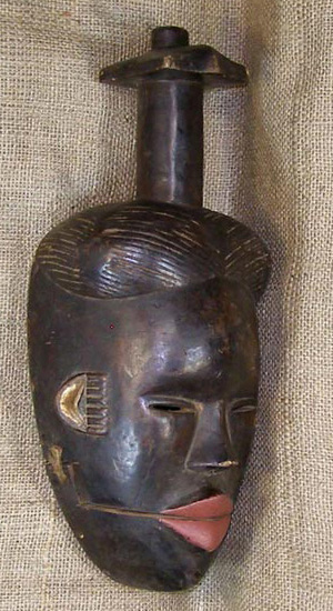 African Mask from the Yoruba Tribe of Nigeria and Benin